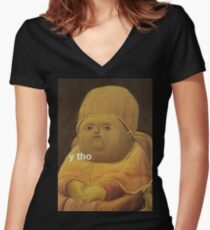 Y Tho Women's Fitted V-Neck T-Shirt