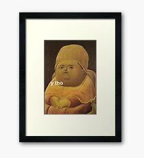 Y Tho Framed Print