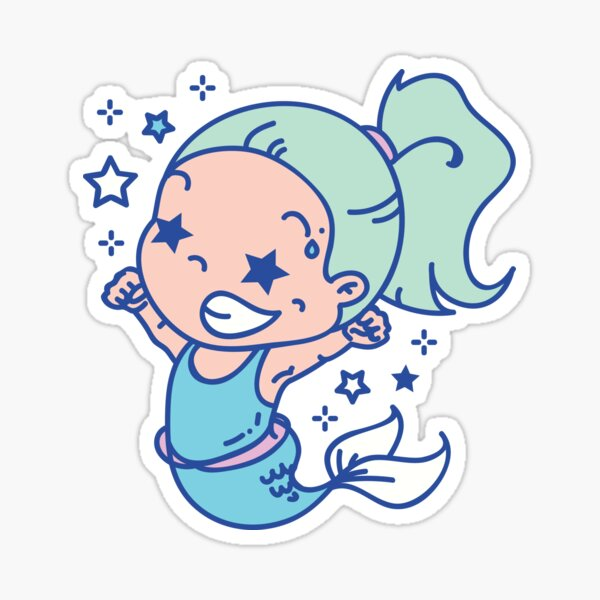 Competitive Mermaid Sticker
