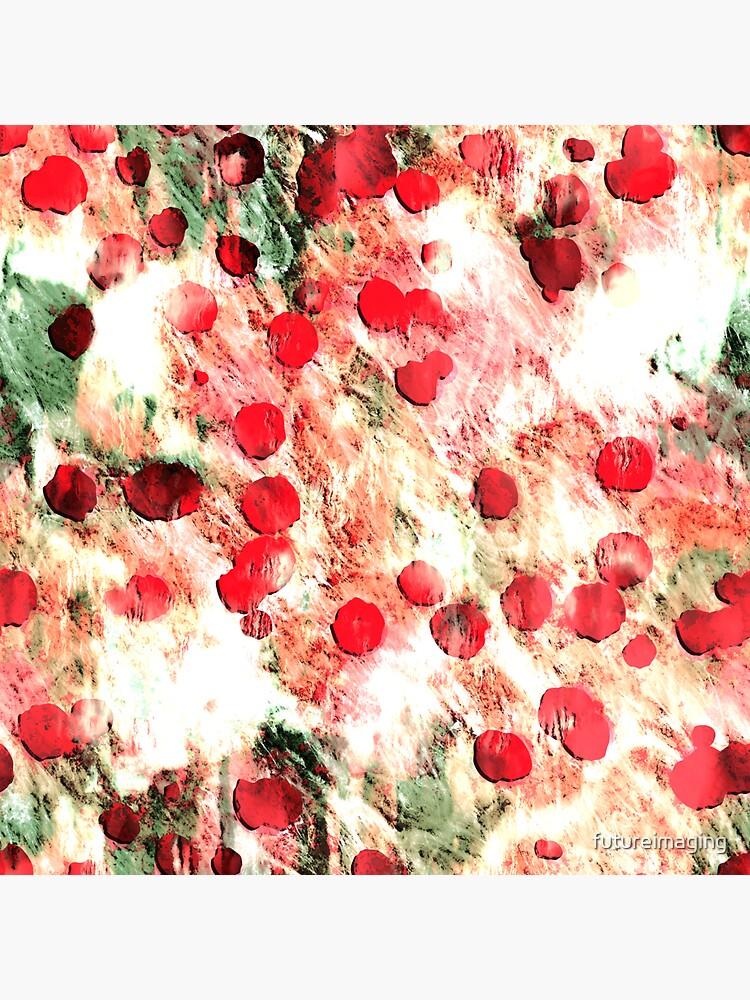 Pink Red Dirty Polka Dot Grunge by futureimaging