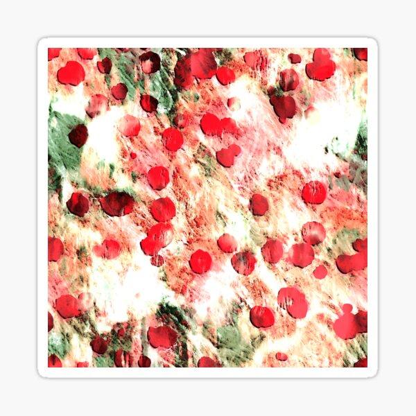 Pink Red Dirty Polka Dot Grunge Sticker