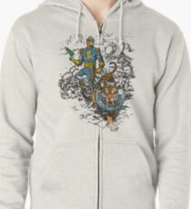 Calvin: The Spiffy Spaceman Zipped Hoodie