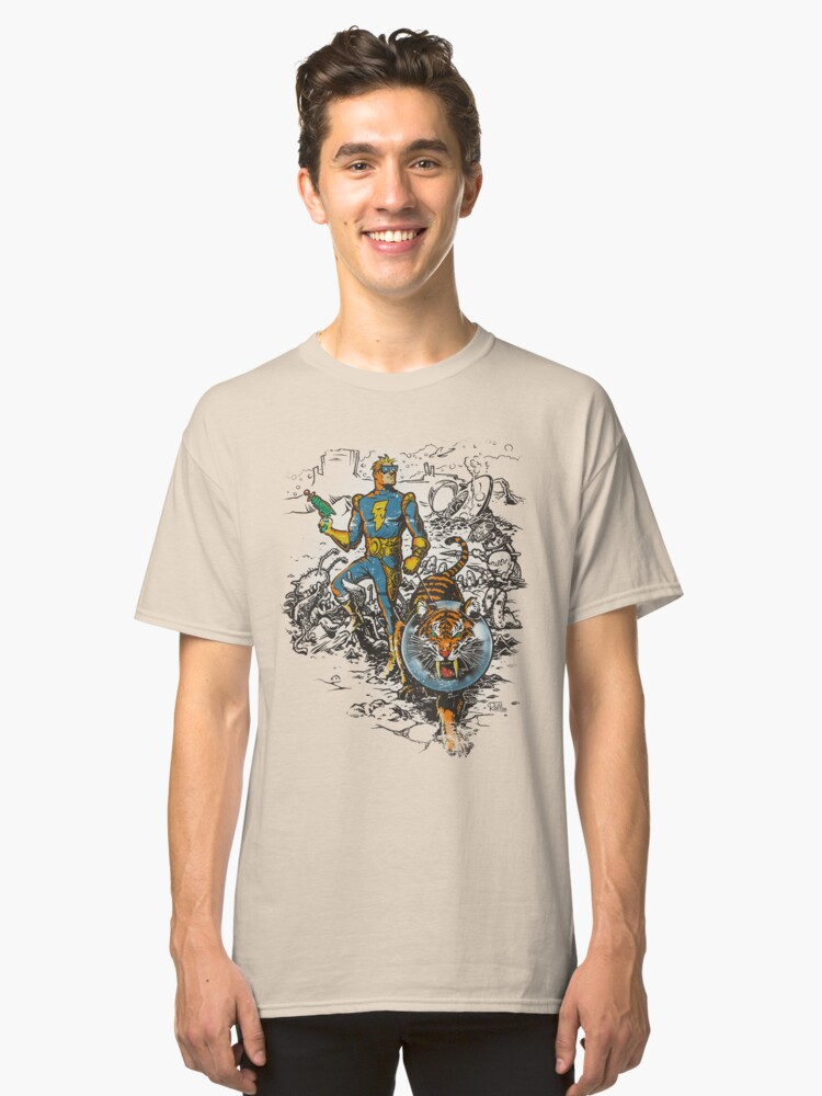 Calvin: The Spiffy Spaceman Classic T-Shirt Front