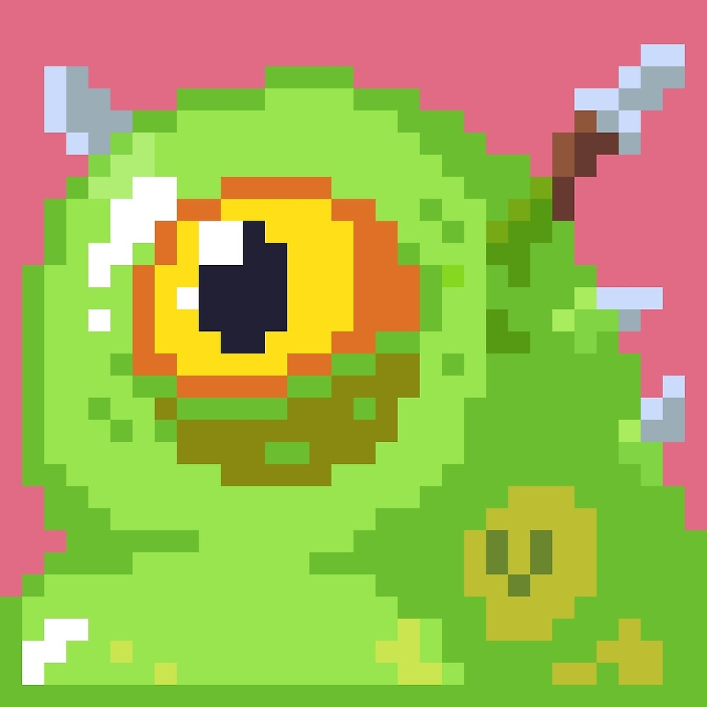 Pixel Monster - Oooze by CuddlyColin