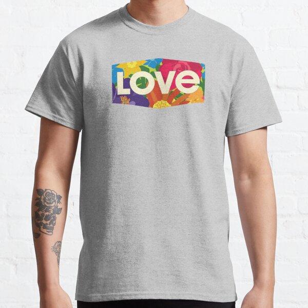 Rainbow Flowers Love Classic T-Shirt