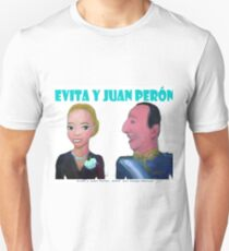 Evita y Juan Perón por Diego Manuel T-Shirt