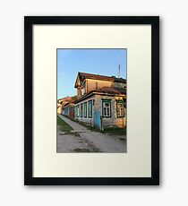 Old rural house Framed Print