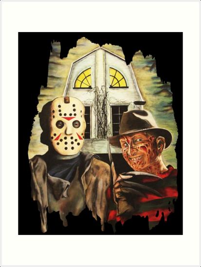 Freddy Vs Jason Horror American Gothic By DontPanicDecor