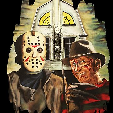 Freddy vs Jason Horror American Gothic by DontPanicDecor