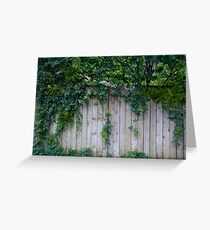 The Green Can Never Be Blocked Greeting Card