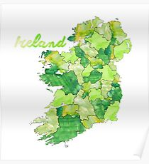 Watercolor Countries - Ireland Poster