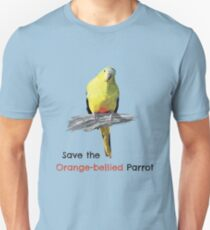 Orange-bellied Parrot products (light background colours) Unisex T-Shirt