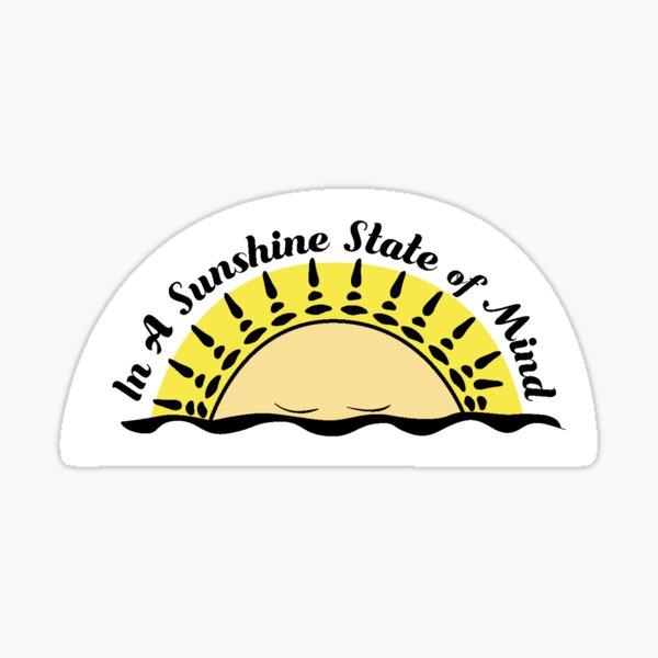 Sunshine State of Mind Logo Sticker