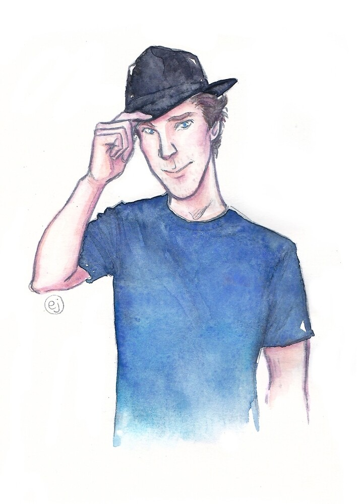 Benedict Cumberbatch watercolor by enerjax
