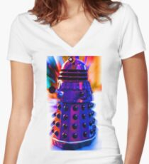 The Dalek Women's Fitted V-Neck T-Shirt
