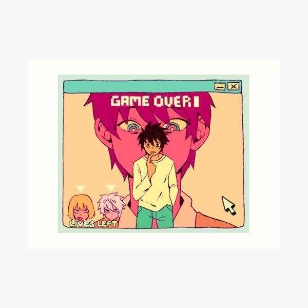game over L Art Print