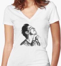 Andrew Scott scribble Women's Fitted V-Neck T-Shirt