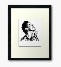 Andrew Scott scribble Framed Print