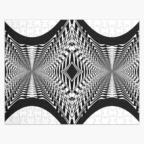 Black and White Pattern Jigsaw Puzzle
