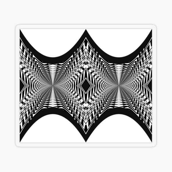 Black and White Pattern Transparent Sticker