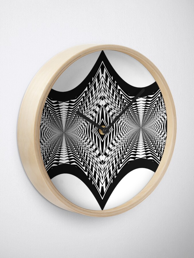 Alternate view of Black and White Pattern Clock