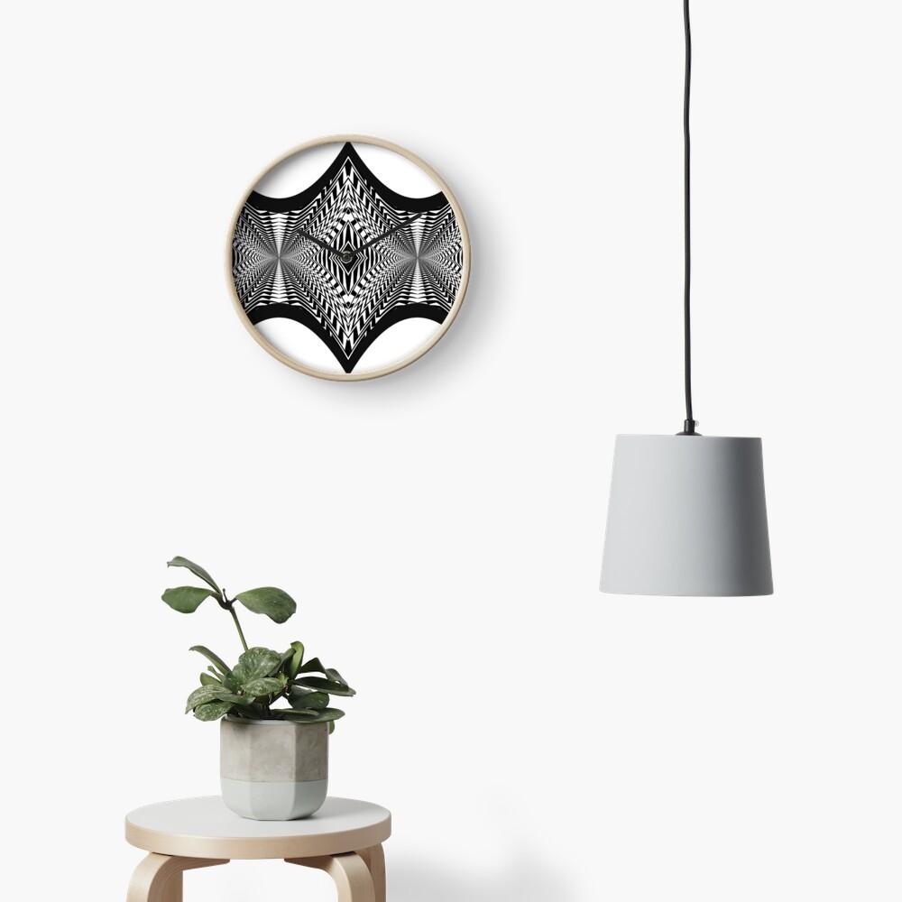 Black and White Pattern Clock