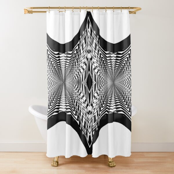 Black and White Pattern Shower Curtain