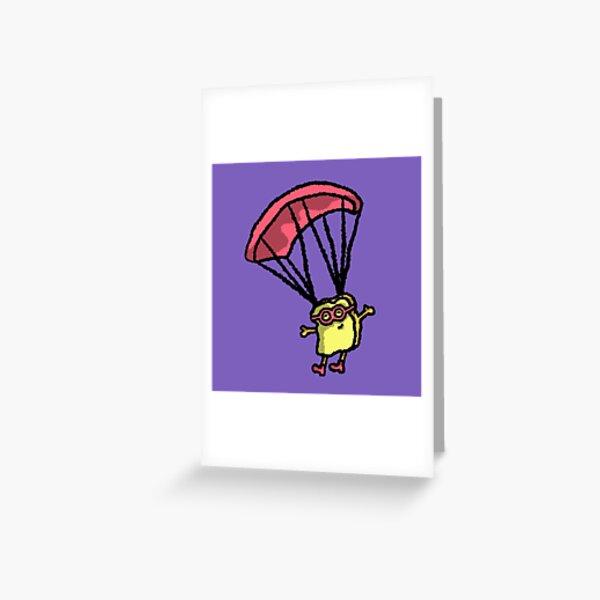 Toast de saut en parachute Carte de vœux