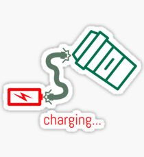 Battery Charging... Sticker