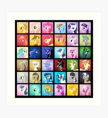 Pony Blocks Art Print