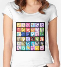 Pony Blocks Women's Fitted Scoop T-Shirt