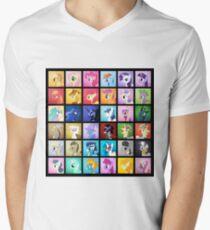 Pony Blocks Men's V-Neck T-Shirt