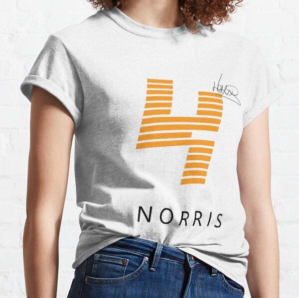 Diseño de camiseta F1 Lando Norris (blanco) Camiseta clásica