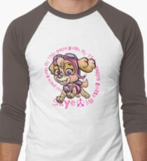 Flying Pup Men's Baseball ¾ T-Shirt