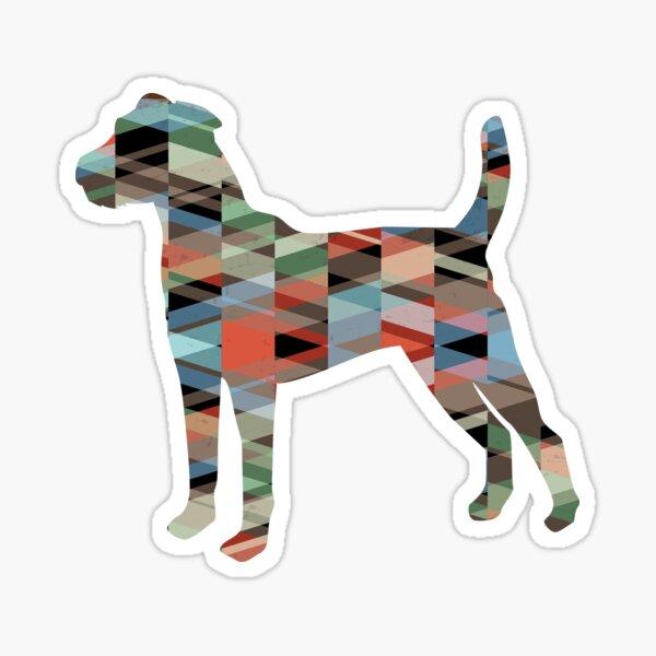 Parson Terrier - Colorful Geometric Pattern - Plaid Sticker