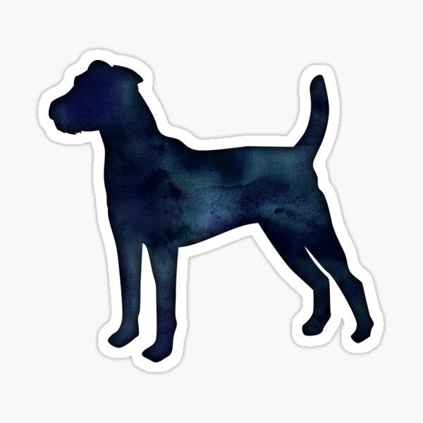 Parson Russel Terrier - Black Watercolor Silhouette Sticker