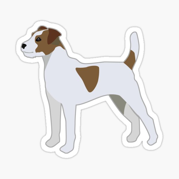 Parson Russell Terrier - Basic Breed Silhouette  Sticker