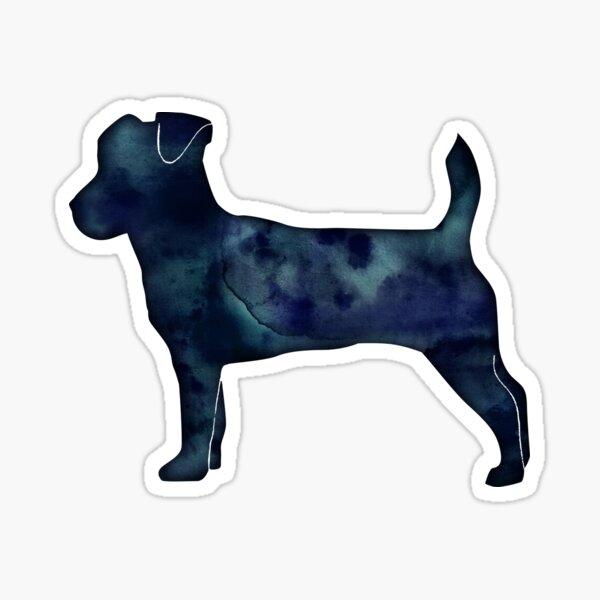 Jack Russell Terrier - Black Watercolor Silhouette Sticker
