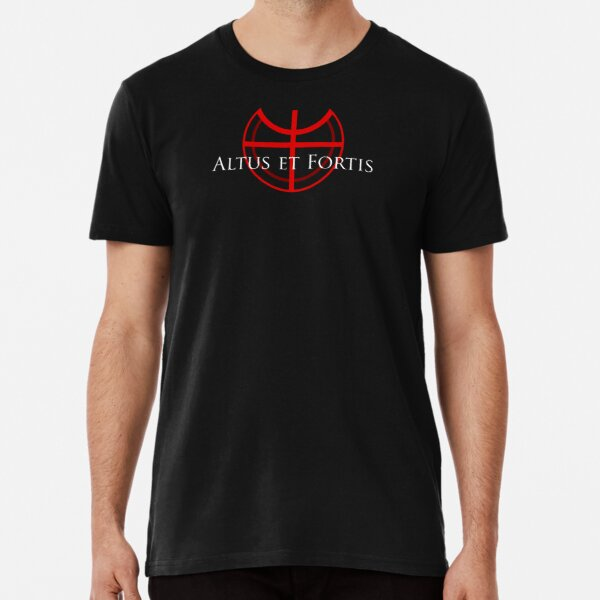 Altus et Fortis (in white) Premium T-Shirt