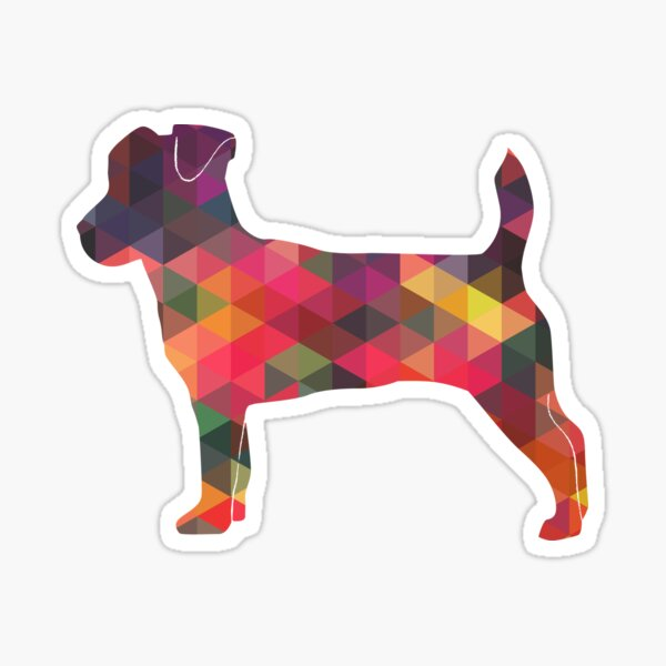 Jack Russell Terrier - Colorful Geometric Pattern - Multi Sticker