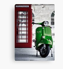 Italian Green Vespa Rally 200 Scooter Canvas Print