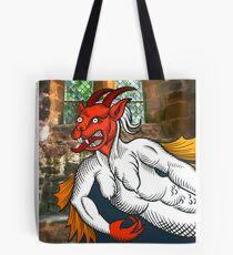 Gothic Grotesque Devil Tote Bag