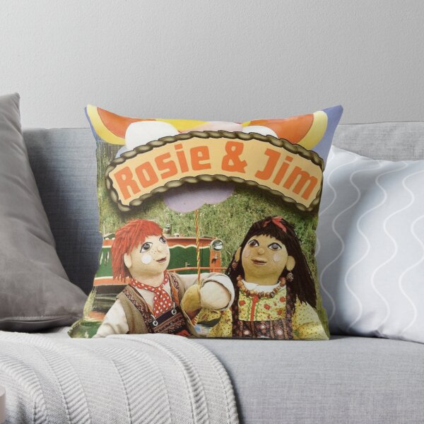 Rosie and Jim Throw Pillow