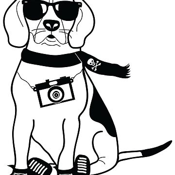 Hipster Beagle - Cute Dog Cartoon Character by designedbyn