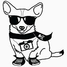 Hipster Corgi - Cute Dog Cartoon Character - Corgis Rule by designedbyn