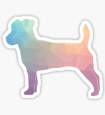 Jack Russell Terrier - Colorful Geometric Pattern - Pastel Sticker