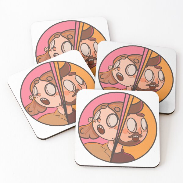 INFOSMILE: THE DUO Coasters (Set of 4)