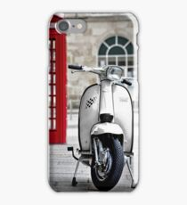 Italian White Lambretta GP Scooter iPhone Case/Skin