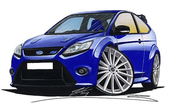 Ford Focus RS (Mk2) Blue by yeomanscarart