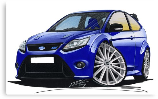Ford Focus RS (Mk2) Blue by Richard Yeomans